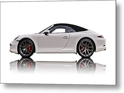 White 911 Metal Print by Douglas Pittman