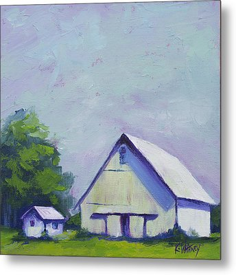 White Barn Metal Print by Kristin Whitney