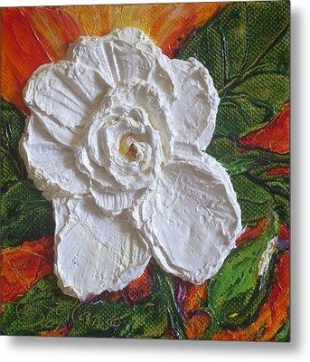 White Begonia Metal Print by Paris Wyatt Llanso