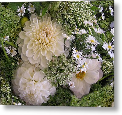 Metal Print featuring the photograph White Bouquet by Geraldine Alexander