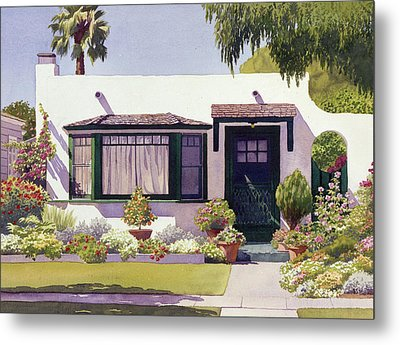 White Bungalow In Coronado Metal Print by Mary Helmreich