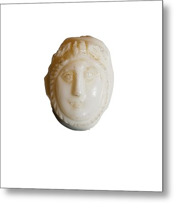 white Cameo mask of Medusa Metal Print by Science Photo Library