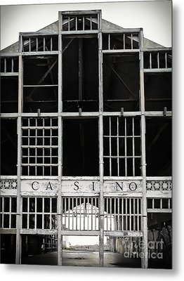 White Casino Metal Print by Colleen Kammerer