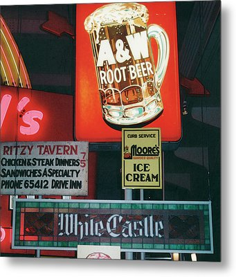 White Castle A And W Metal Print