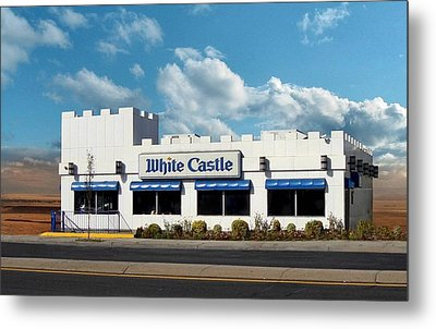 White Castle Metal Print by Bruce Lennon