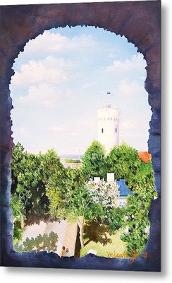 White Castle In Tallinn Estonia Metal Print