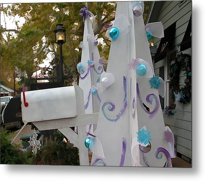White Christmas Metal Print by Audreen Gieger-Hawkins