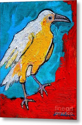 White Crow Metal Print by Ana Maria Edulescu