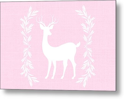 White Deer Metal Print by Chastity Hoff