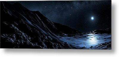 White Dwarf Seen From A Dead Planet Metal Print by Mark Garlick