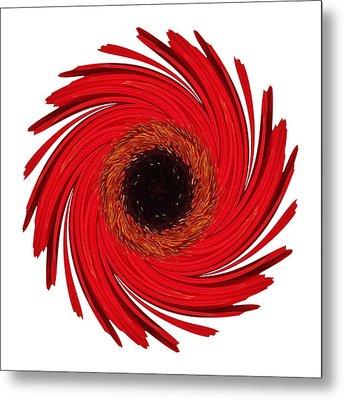 Dying Amaryllis Vii Flower Mandala White Metal Print