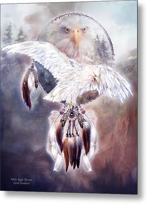 White Eagle Dreams 2 Metal Print by Carol Cavalaris