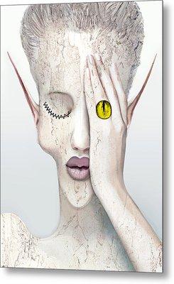 White Face Metal Print by Yosi Cupano