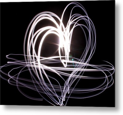 White Heart Metal Print by Aya Murrells