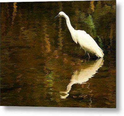 White Heron Metal Print by Dick Wood