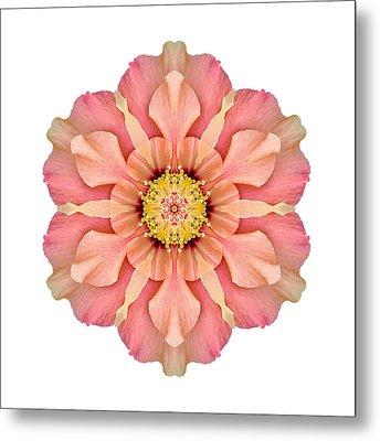 Hibiscus Rosa-sinensis I Flower Mandala White Metal Print