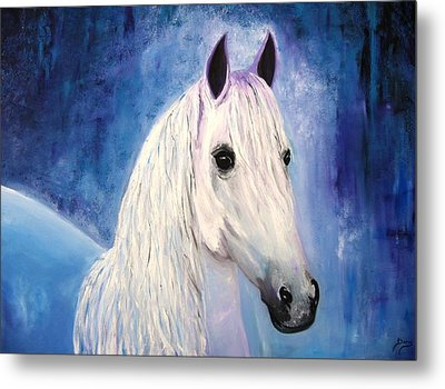 White Horse Metal Print by Doris Cohen