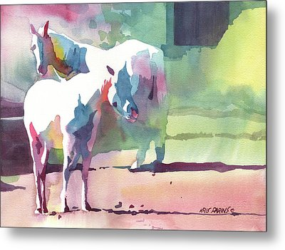 White Horses Metal Print by Kris Parins
