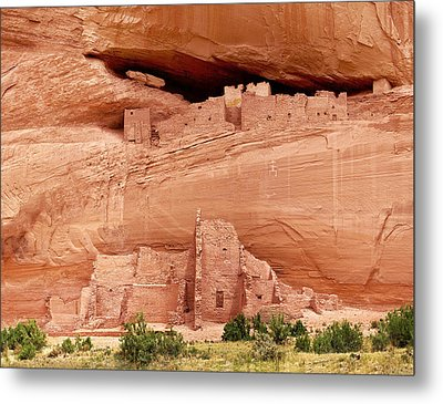 White House Ruins Canyon De Chelly Metal Print