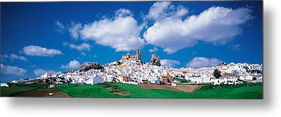 White Houses Andalusia Olvera Spain Metal Print by Panoramic Images