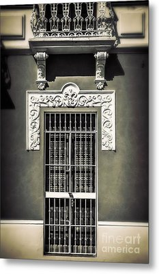 White Iron Metal Print by Perry Webster