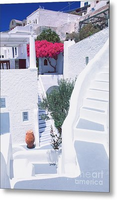 White Labyrinth Metal Print by Aiolos Greek Collections