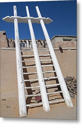 White Ladder Metal Print
