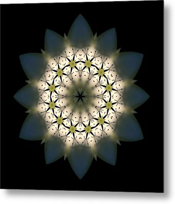 White Lily IIi Flower Mandala Metal Print