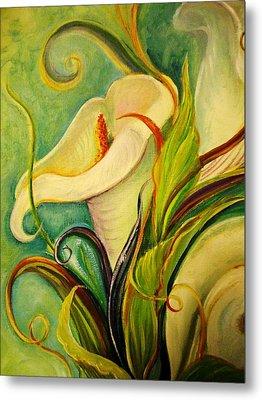 White Lily Metal Print by Yolanda Rodriguez