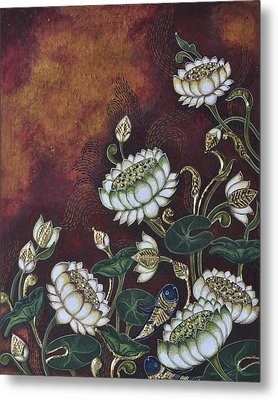 White Lotus Metal Print by Sucheta Misra