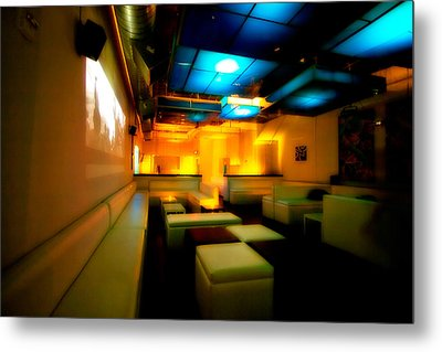 White Lounge Metal Print by Melinda Ledsome
