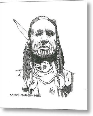 White Man Runs Him Metal Print