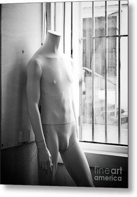 White Mannequin Metal Print by Sonja Quintero
