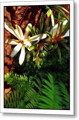 White Maui Flowers Metal Print by Joan  Minchak