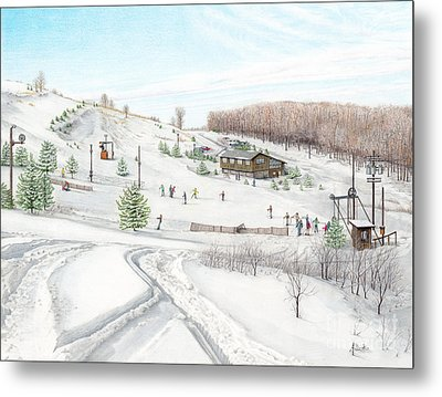White Mountain Resort Metal Print