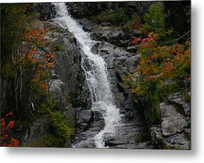 White Mountain Water Fall  Metal Print by Denyse Duhaime
