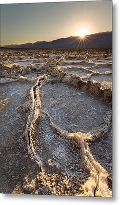 Metal Print featuring the photograph Death Valley - White Ocean by Francesco Emanuele Carucci