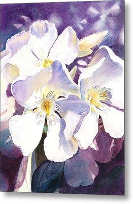 White Oleander Metal Print by Irina Sztukowski