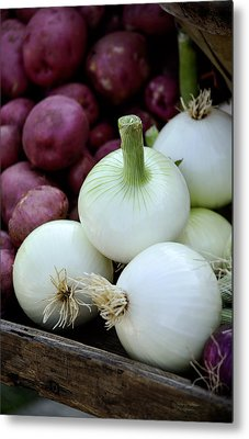 White Onions And Red Potatoes Metal Print by Julie Palencia