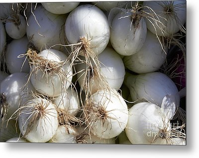 White Onions Metal Print by Tony Cordoza
