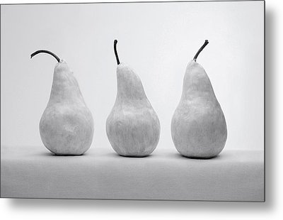 Metal Print featuring the photograph White Pears by Krasimir Tolev