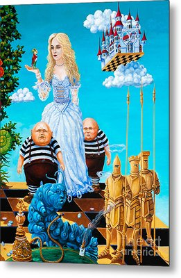 Metal Print featuring the painting White Queen. Part 3 by Igor Postash
