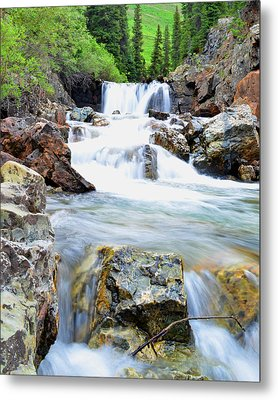 White River Metal Print by Mike Schmidt