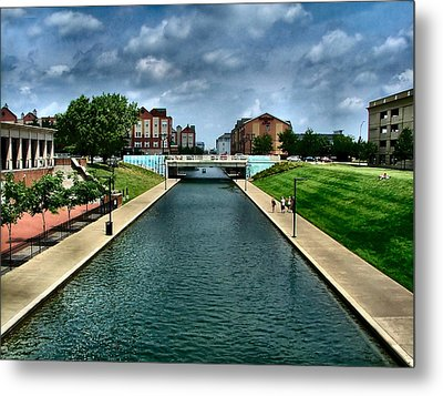 White River Park Canal In Indy Metal Print by Julie Dant