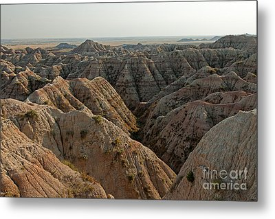 White River Valley Overlook Badlands National Park Metal Print