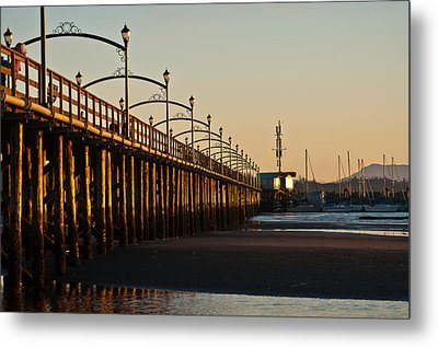 White Rock Pier Metal Print by Sabine Edrissi