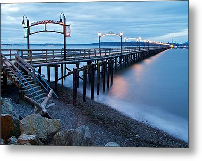 White Rock Pier Metal Print by Scott Holmes