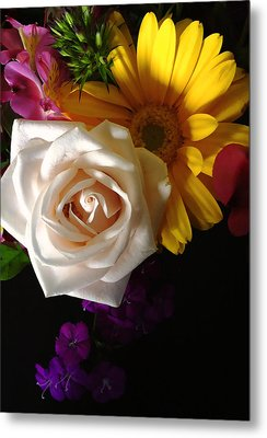 Metal Print featuring the photograph White Rose by Meghan at FireBonnet Art