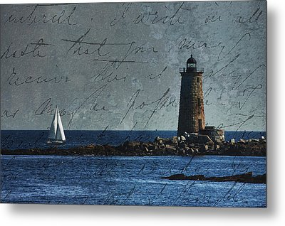 White Sails On Blue  Metal Print by Jeff Folger