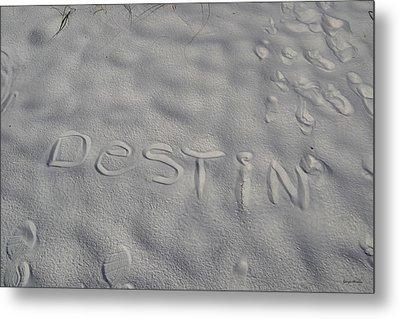 White Sand Of Destin 002 Metal Print